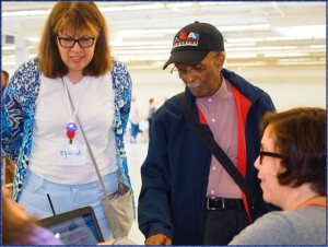 Sylvia and legendary jazz musician Jimmy Heath check-in on a CMK project